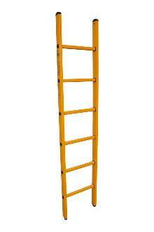 Single ladder made of fibreglass, 6 rungs