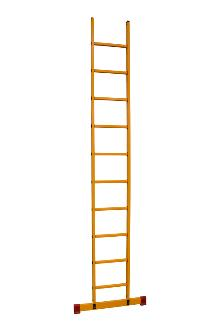 Single ladder made of fibreglass, 10 rungs
