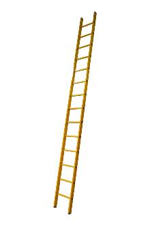 Single ladder made of fibreglass, 14 rungs