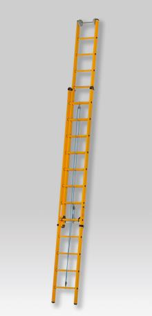 2-section pulley ladder, 2 x 16 rungs