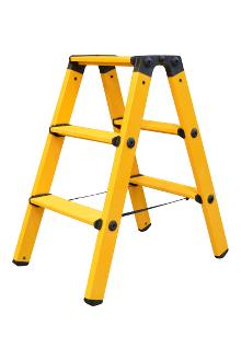 Twin step ladder made of fibreglass 2 x 3 rungs
