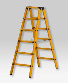 Twin step ladder made of fibreglass 2 x 6 rungs