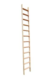 Loft stairs / Loft ladder 12 rungs vertical: Loft stairs have wider rungs and a shorter distance between the rungs. Outer width 425 mm - Inner width 385 mm.