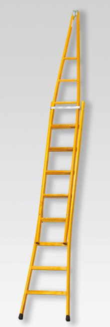 Pointed extension ladder 9+9 rungs - 5.15 m