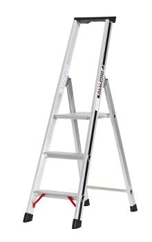 Front step ladder with tray, 3 rungs and 60 cm hanger - PRO