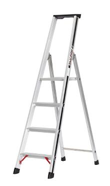 Front step ladder with tray, 4 rungs and 60 cm hanger - PRO