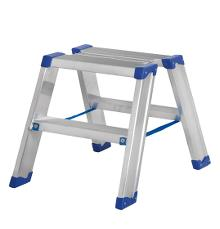 Narrow saw-horse 2 x 2 steps - Lightweight and stable - Platform dimensions: 25 x 42 cm