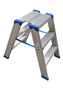 Narrow saw-horse 2 x 3 steps - Lightweight and stable - Platform dimensions: 25 x 42 cm