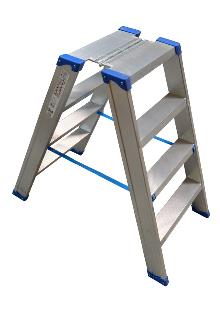 Narrow saw-horse 2 x 4 steps - Lightweight and stable - Platform dimensions: 25 x 42 cm