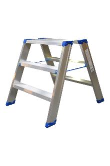 Wide saw-horse 2 x 3 steps - Lightweight and stable - Platform dimensions: 25 x 60 cm