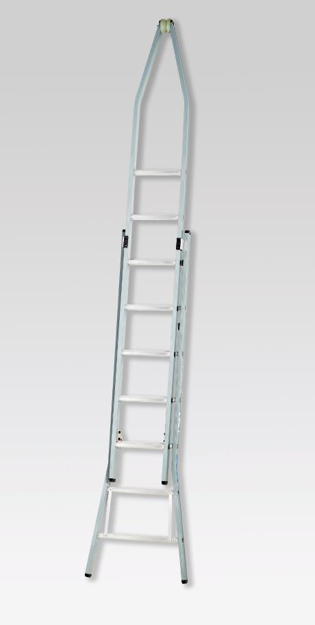 Pointed extension ladder 3 x 9 rungs