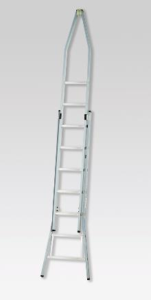 Pointed extension ladder 3 x 10 rungs