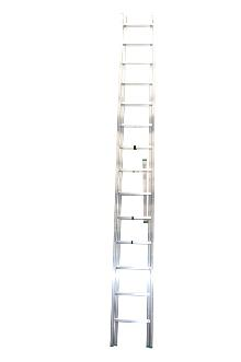 2-section combination ladder 16 + 15 - Standard ladder in aluminium for demanding amateur and semi-professional users.  The combination ladder can be used as a twin step ladder, extension ladder or as 2 single ladders