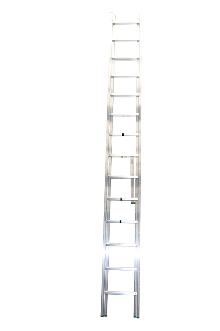 2-section combination ladder 18 + 17 - Standard ladder in aluminium for demanding amateur and semi-professional users.  The combination ladder can be used as a twin step ladder, extension ladder or as 2 single ladders