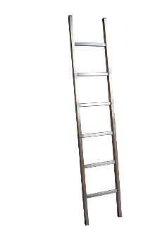 Single ladder, Standard, 6 rungs - The standard ladder is for the discerning DIYer and semi-professional - rung spacing: 300 mm. Width 403 mm