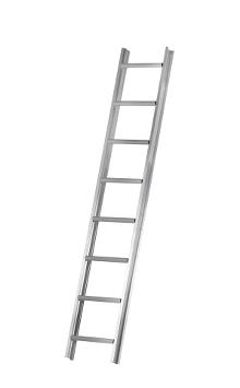 Roof ladder 3 m - The roof ladder can be used loose or it can be attached where required by law. The tall profile of the stiles provides plenty of space between the rungs and the roof. Outer width: 37 cm - Rung width: 30 cm - Stile height: 75 mm