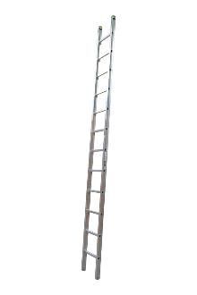 Single ladder, work, 12 rungs - Work single ladder is made of indestructible, corrosion-proof aluminium and specifically designed for professional users. The rungs have curved contact surfaces for a more secure footing. Rung spacing: 300 mm. Width 403 mm