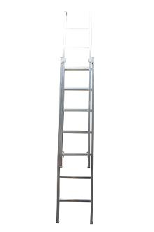 2-section extension ladder 6+5 rungs, Work - The Work ladder is a combination of single, extension and combination ladder that is made of indestructible, corrosion-proof aluminium and specifically designed for professional users.